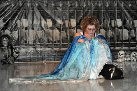 Liz blue with skeletons