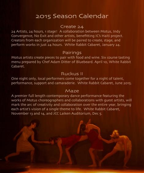 Season Calendar 2015