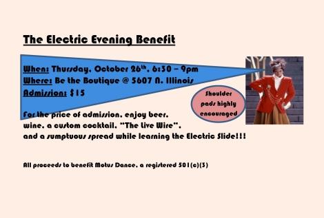 Electric Evening postcard
